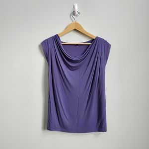 🌷4 for $20 Express Purple Cowl Neck Blouse